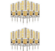 3W G4 2-pins LED-lampen T 48 SMD 3014 140-160 lm Warm wit / Koel wit / Natuurlijk wit Decoratief / Waterbestendig V 10 stuks