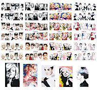 12 Design in one sets Sexy Lady Girl Women Designs Water Transfer Creative DIY Full Wraps Nail Art Sticker Decals BN25-36