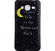 For Samsung Galaxy J3 J3(2016) ON5 Case Cover Moon Pattern Black TPU Material Phone Shell