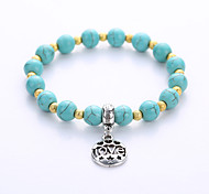 The New Natural Volcanic Rock Turquoise Bracelet Fashion Original Manual On Single Men And Women Couple Bracelet Manu Facturers Direct Selling