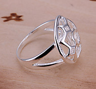 Jewelry Women Alloy Silver Hollow Ring