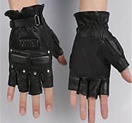 los guantes del dedo medio al aire libre remache guantes de moto montar