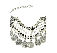 Indian Design Silver Color Chunky Chain Bracelets