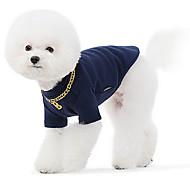 Perros Sudadera Azul Gris Ropa para Perro Invierno Primavera/Otoño Un Color Moda