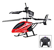 HX713 2 - CH Exquisite Model Alloy Body Excellent Performance RC Remote Control Helicopter (Red) - RED