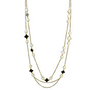 Multilayers Imitation Pearl Chain Necklaces
