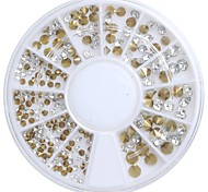 1pcs Nail Polished Acrylic Bottom Gold Drill With White Gold Bottom 2 3 4mm