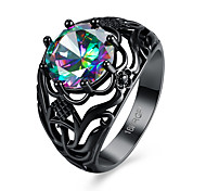 Women's Rings Statement Rings Jewelry Hallowas/Party/Daily/Wedding Fashion Zircon/Copper/Black Gun Plated Black 1pc Gift