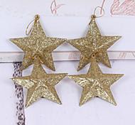 natale decorazioni in oro a cinque - albero di Natale punte decorazione stella corona di 10 centimetri