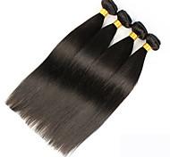 Tejidos Humanos Cabello Cabello Brasileño Recto 12 meses 4 Piezas los tejidos de pelo