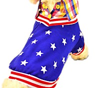 Cat / Dog Shirt / T-Shirt Red / Blue Dog Clothes Summer / Spring/Fall Stars Fashion / Casual/Daily