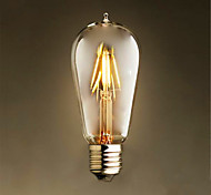4W E26/E27 LED Glühlampen ST58 4 SMD 2835 400 lm Warmes Weiß Dekorativ AC 220-240 V 1 Stück