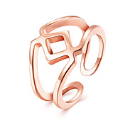 Fashion Punk Style Rose Gold Plated Open Ring for Women New Platinum Plated The Finger Adjustable Ring Wedding Jewelry For Women