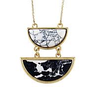 New Model Half Round Shape Imitation Turquoise Pendant Necklaces