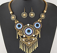 Schmuck 1 Halskette 1 Paar Ohrringe Türkis Party Alltag Normal 1 Set Damen Goldfarben Blau Hochzeitsgeschenke