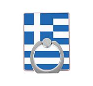 флаг греческого рисунка пластиковый держатель кольца / 360 вращающийся для мобильного телефона iphone 8 7 samsung galaxy s8 s7