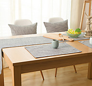 Rectangular Solid Table Runner , Linen Material Hotel Dining Table / Table Decoration