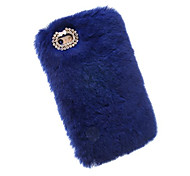 For Apple iPhone 7 Plus 7 6S 6 Plus 100% Genuine Rabbit Fur Hair Case Glitter Diamond Cover