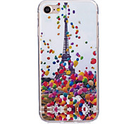 Ultra-thin Case Back Cover Case Eiffel Tower Soft TPU For IPhone 7 Plus  iPhone 7 iPhone 6s Plus 6 Plus  iPhone 6s 6