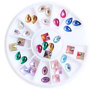 3D DIY Nail Art Tip Mixed Colors Nail Rhinestones Beauty Nail Decoration Glitter