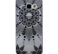 For Samsung Galaxy A5 A3 (2016) Case Cover Black Campanula Pattern Painted TPU Material Phone Case