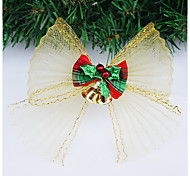 Ribbon Bow Christmas Ornaments With Bells