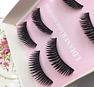 Eyelashes lash Full Strip Lashes Eyes Thick Lifted lashes / Volumized Handmade Fiber Black Band 0.10mm 12mm