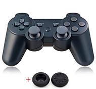 Bluetoot draadloze controller dualshock gamepad voor playstation 3 ps3 (stuur een paar klikstick grips cap)