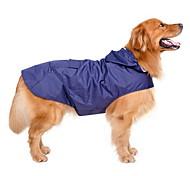 Собака Дождевик Одежда для собак Водонепроницаемый Защита от ветра Сплошной цвет Темно-синий Красный