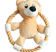 Dog Toy Pet Toys Interactive / Plush Toy / Squeaking Toy Squeak / Squeaking / Durable Pink / Khaki Cotton