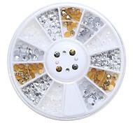1pcs  Manicure Acrylic Diamond Gold Silver White AB Mixed 2mm3mm Drill Drill Box