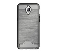 For One Plus 3 Wiredrawing PC and TPU Case Cover with Card Slots And Kickstand Function Cover Case For One Plus 3