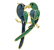 Fashion Enamel Bird Lovers Big Brooches for Women