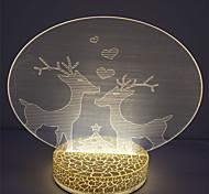 Newest Design Christmas Decoration Led 3D Table Light