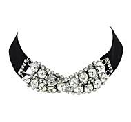 Latest Model Rhinestone Wide Velvet Choker Collar Necklaces