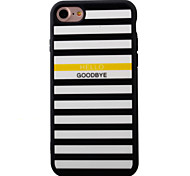 For iPhone 7 7plus iPhone Case Cover Stripe Pattern Painted TPU Material