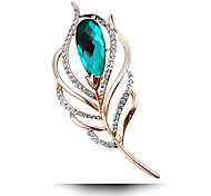 Women's Fashion Alloy/Rhinestone/Crystal Flower Brooches Pin Party/Daily/Wedding Luxury Jewelry 1pc