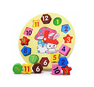 Jigsaw Puzzles Educational Toy Building Blocks DIY Toys Wood Rainbow