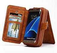 многофункциональный съемный портативный подлинный кожаный бумажник чехол для Samsung Galaxy s8 s4 s5 s6 края плюс s7 края