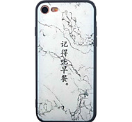 For iPhone 7 7 Plus 6s 6 Plus Case Cover Chinese Character Pattern Painting Acrylic Backplane TPU Frame Combo Phone Case
