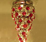 Home Hallway Mini Octagon Crystal Chandelier Ceiling Lamp Led Light