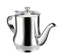 1 PC Stainless Steel Household Oil cCan Filling Vinegar Pot Leakproof Capped Kitchen Oil tTank Soy Cruet