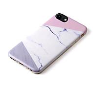 Pour Coque iPhone 7 Coques iPhone 7 Plus Coque iPhone 6 Motif Coque Coque Arrière Coque Marbre Flexible PUT pour AppleiPhone 7 Plus