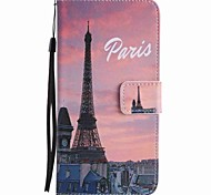 For Google Pixel XL Pixel Case Cover Eiffel Tower Painted Lanyard PU Phone Case