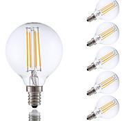 3.5W E12 LED Filament Bulbs G16.5 4 COB 350 lm Warm White Dimmable 120V 6 pcs