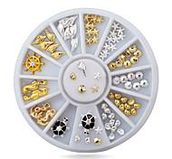 1pcs Cute Ocean Sea Life Gold Silver  Metal Alloy Nail Art Decorations Studs Wheel