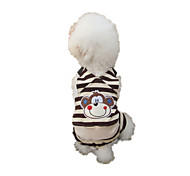 Dog Clothes/Jumpsuit Coffee Dog Clothes Winter Cartoon Keep Warm