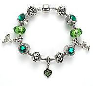 Women's Strand Bracelet Crystal Acrylic Alloy Green Blue Pink Light Blue Jewelry 1pc