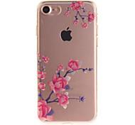 Для IMD Кейс для Задняя крышка Кейс для Цветы Мягкий TPU для Apple iPhone 7 / iPhone 6s/6