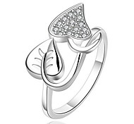 Jewelry Women Sterling Silver Silver Leaf Ring